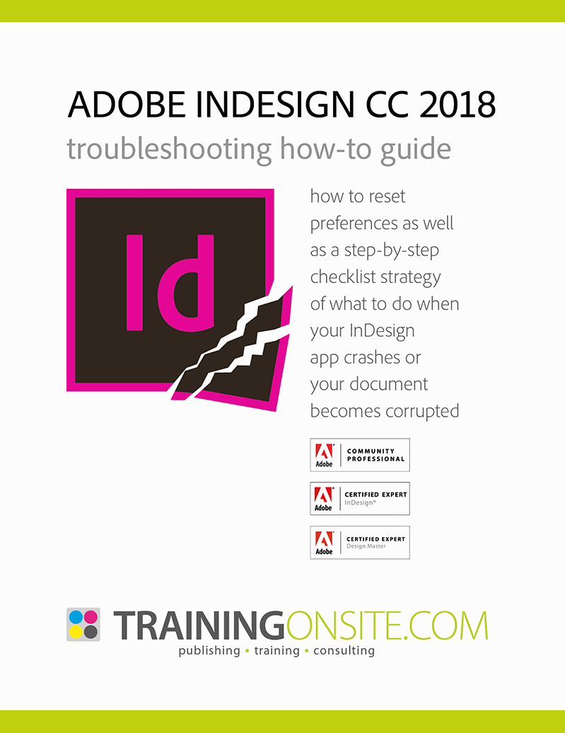 InDesign CC 2018 troubleshooting 800px