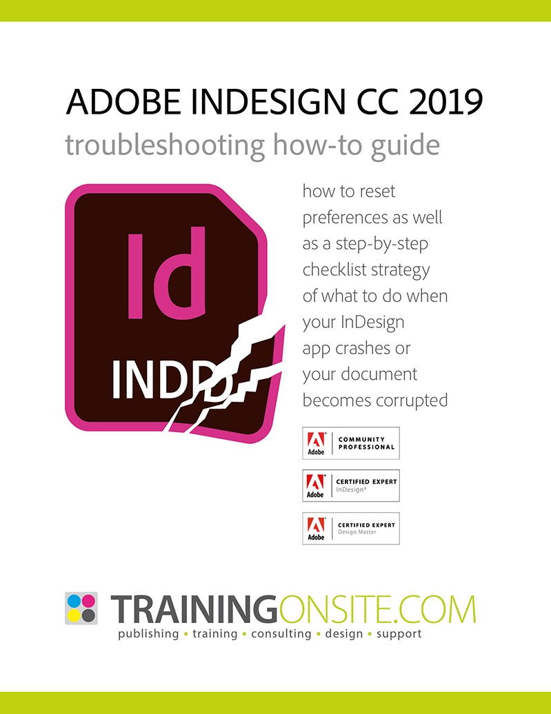 InDesign CC 2019 troubleshooting 800px