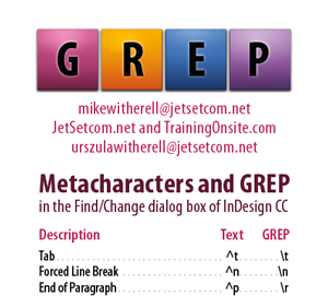 InDesign CC GREP and Metacharacters 1-column for smartphones